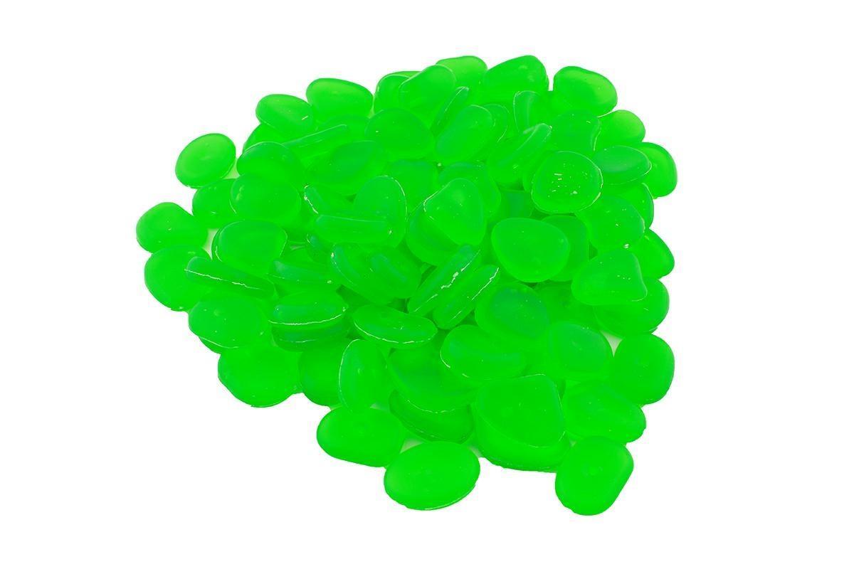LED21 AG653B Svítící dekorativní kameny 100 ks, zelené